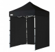 2m x 2m black heavy duty pop up gazebo with sides